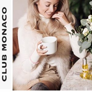 Club Monaco NWOT Blush Pink Feather Vest Size M
